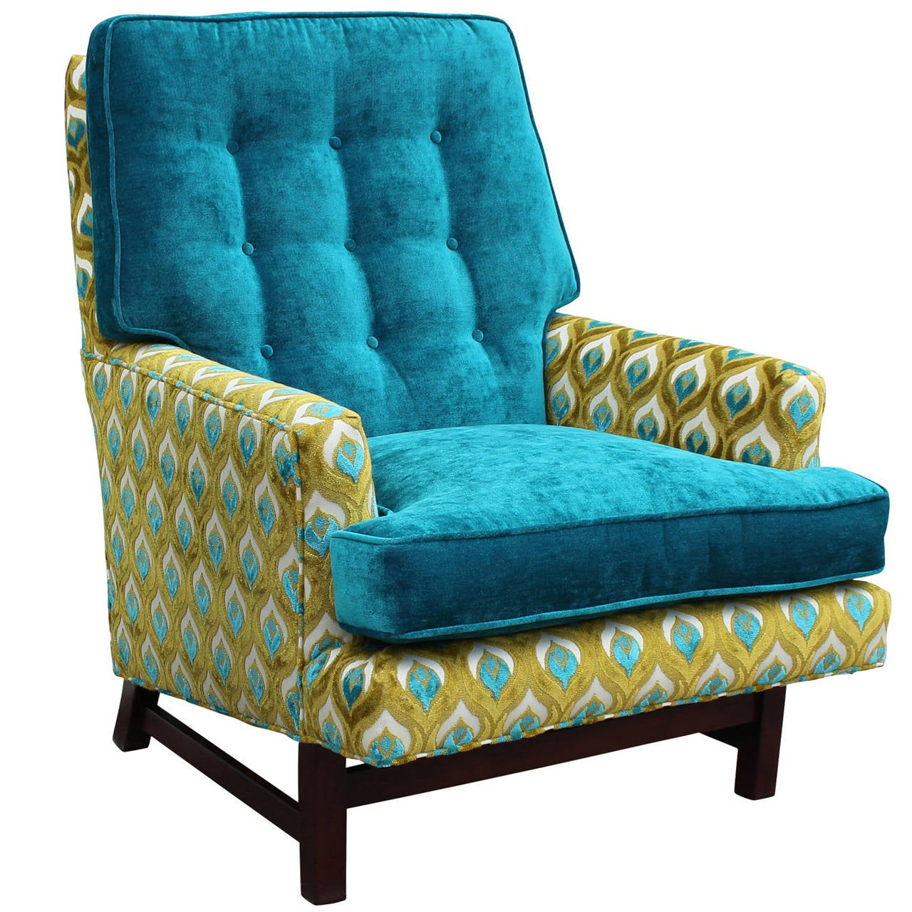 turquoise lounge chair folding easy nilkamal dunbar style in and lime velvet at