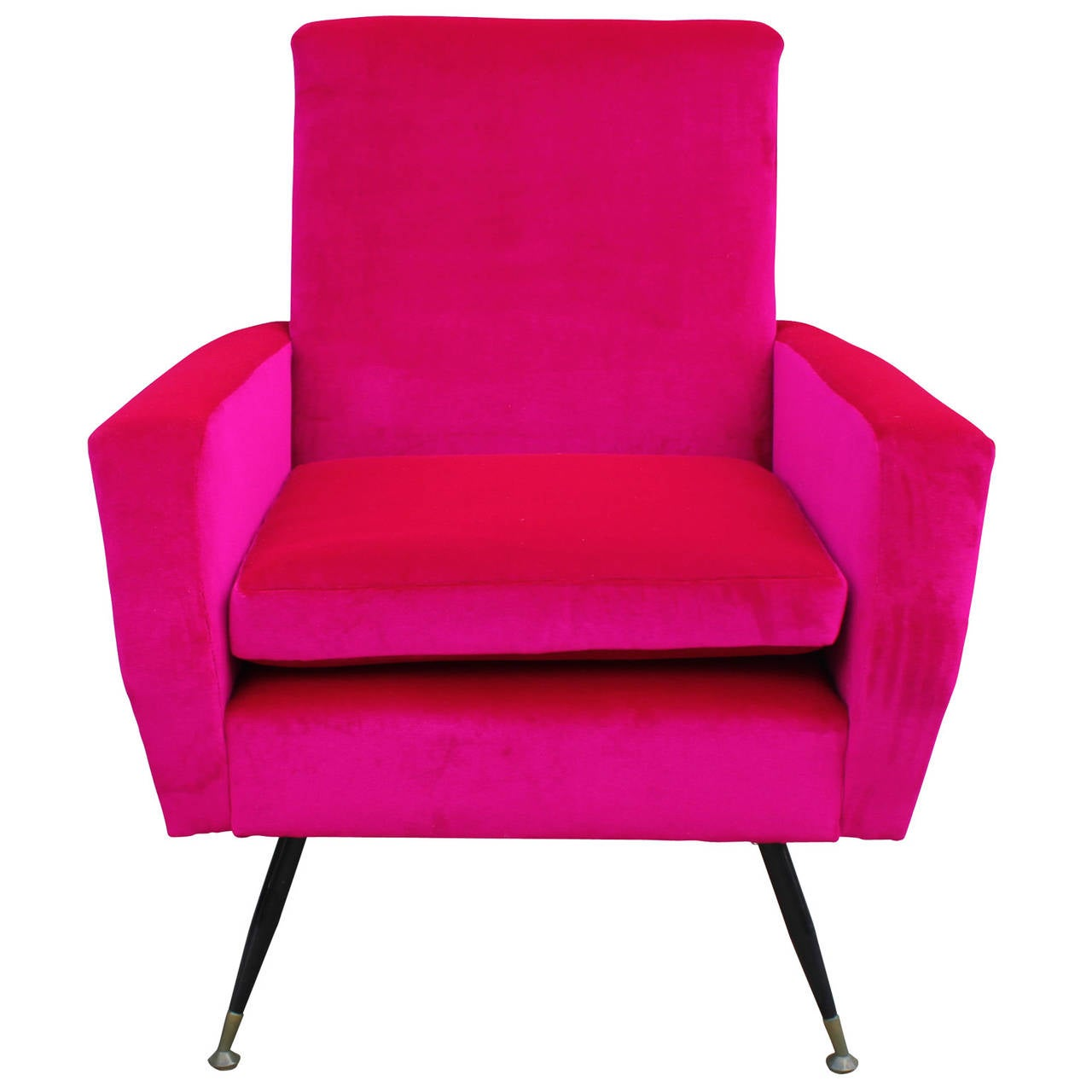 pink club chair swivel edmonton incredible bold velvet italian lounge at 1stdibs