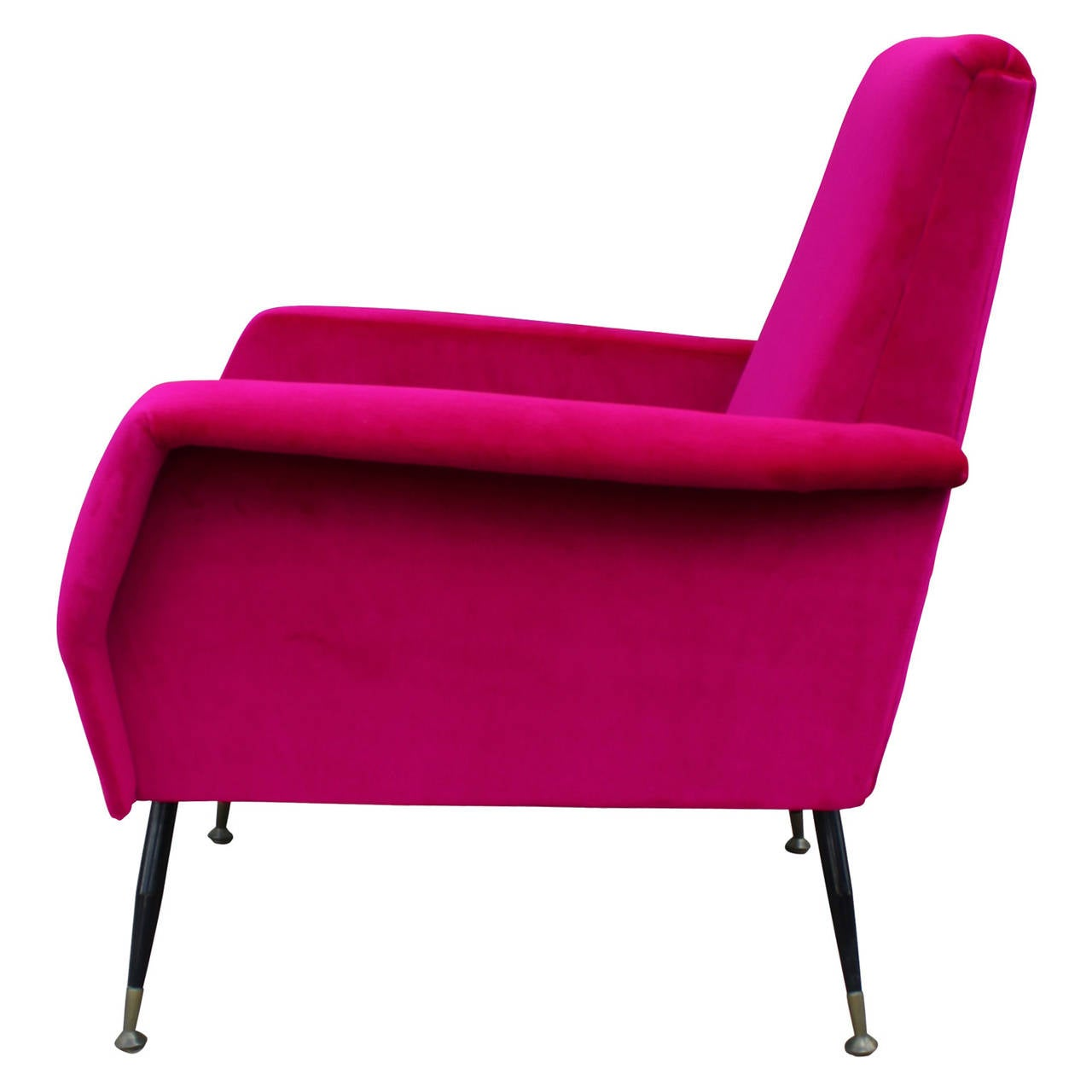 pink club chair dining covers gorey incredible bold velvet italian lounge at 1stdibs