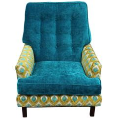Turquoise Lounge Chair Kneeling Office Dunbar Style In And Lime Velvet At