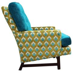 Turquoise Lounge Chair Plastic Andronik Chairs Dunbar Style In And Lime Velvet At