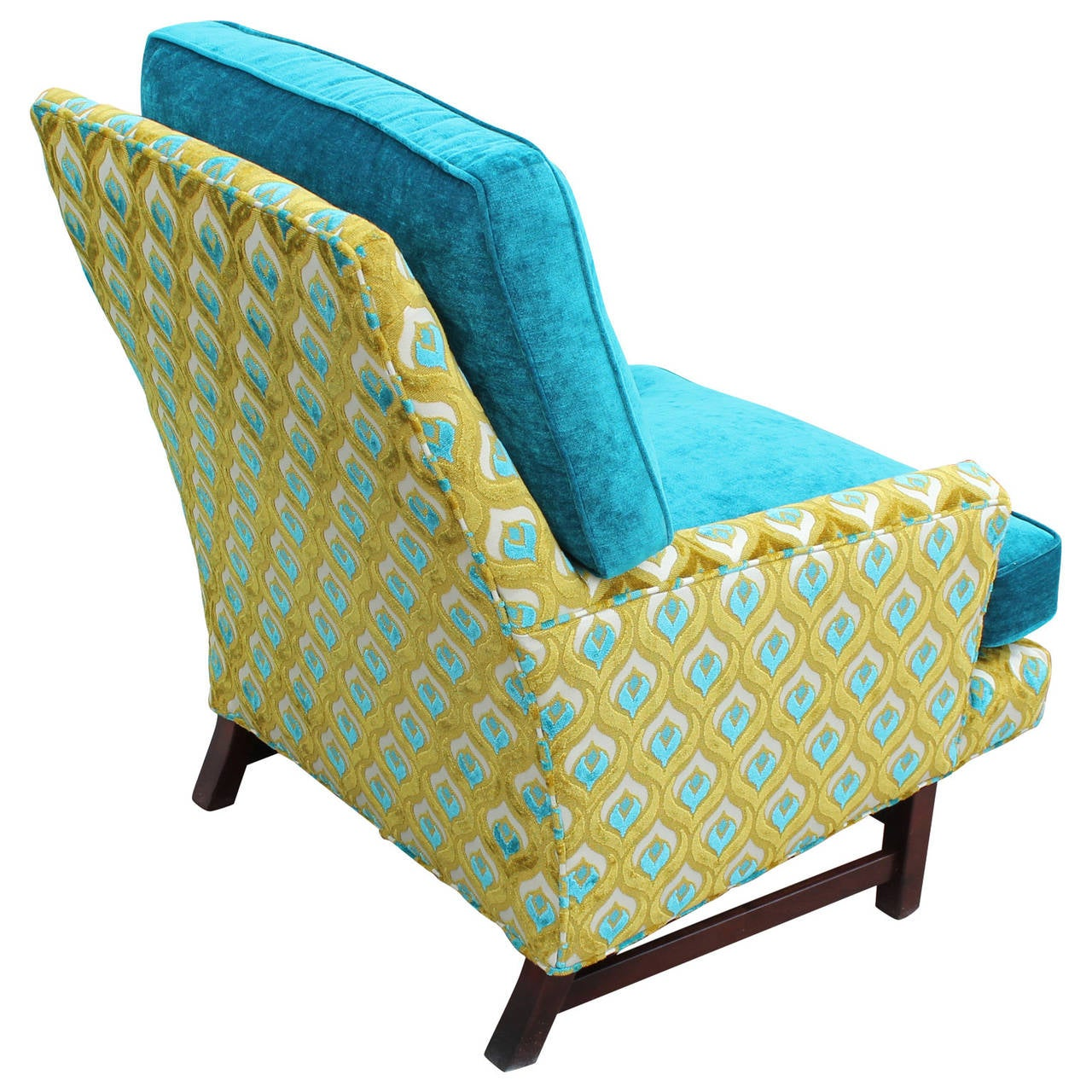 turquoise lounge chair best baby rocker 2018 dunbar style in and lime velvet at
