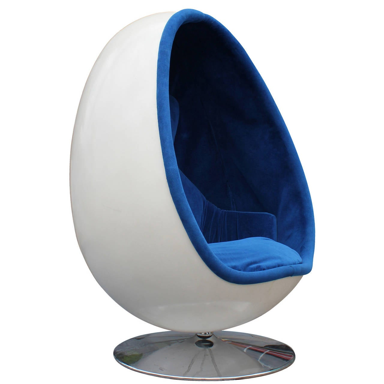 blue egg chair bernhardt leather ovalia by thor larsen at 1stdibs