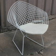 Knoll Bertoia Chair Loveseat Folding White Diamond By Harry For At 1stdibs