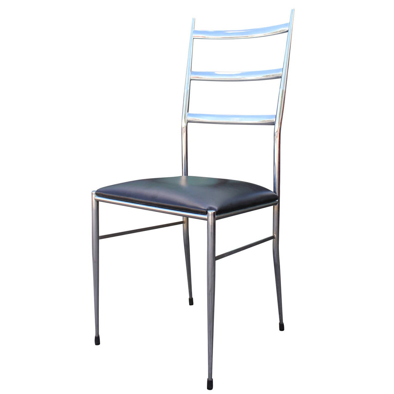 ladder back dining chairs patio cheap set of four modern chrome in