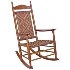 Woven Rocking Chair Bedroom Hanging Uk Superb Danish Style Custom With Seat At 1stdibs For Sale
