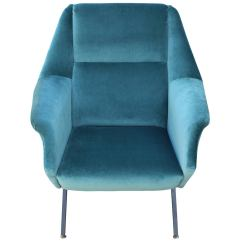 Teal Lounge Chair Desk Ball Pair Of Fabulous Italian Chairs In Velvet At