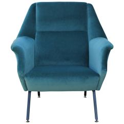 Teal Lounge Chair Old Wooden Rocking Pair Of Fabulous Italian Chairs In Velvet At