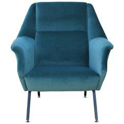 Dark Teal Chair Cover Rental Cincinnati Pair Of Fabulous Italian Lounge Chairs In Velvet At