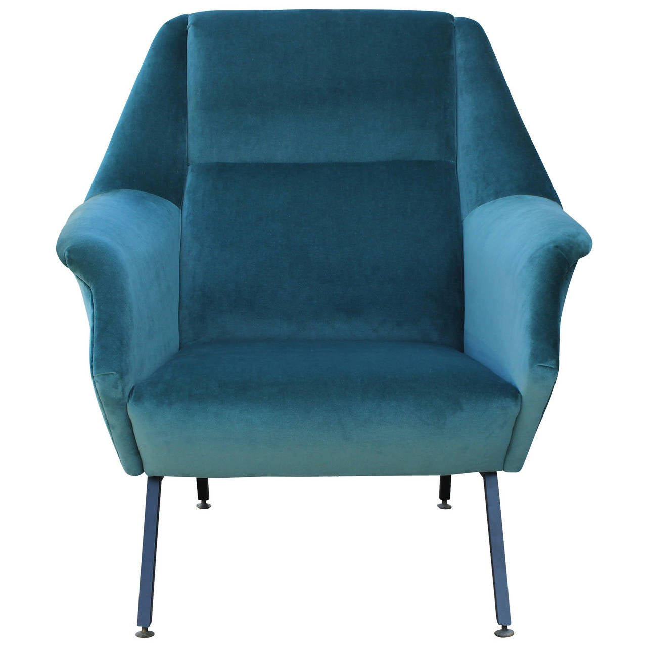 Teal Chair Pair Of Fabulous Italian Lounge Chairs In Teal Velvet At