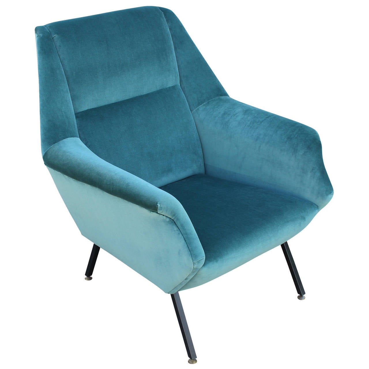 teal lounge chair cover depot reviews pair of fabulous italian chairs in velvet at