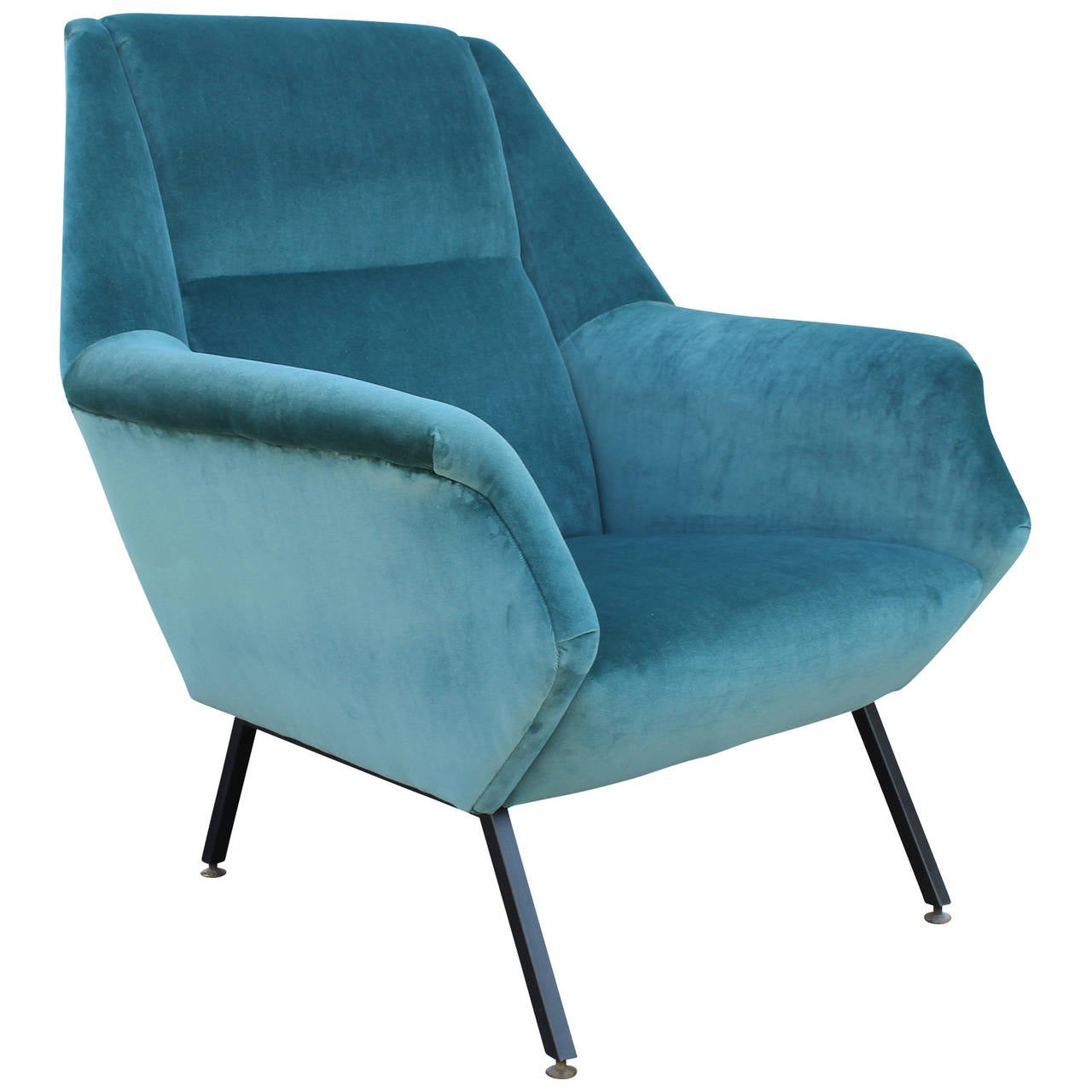 teal lounge chair revolving barber shop pair of fabulous italian chairs in velvet at