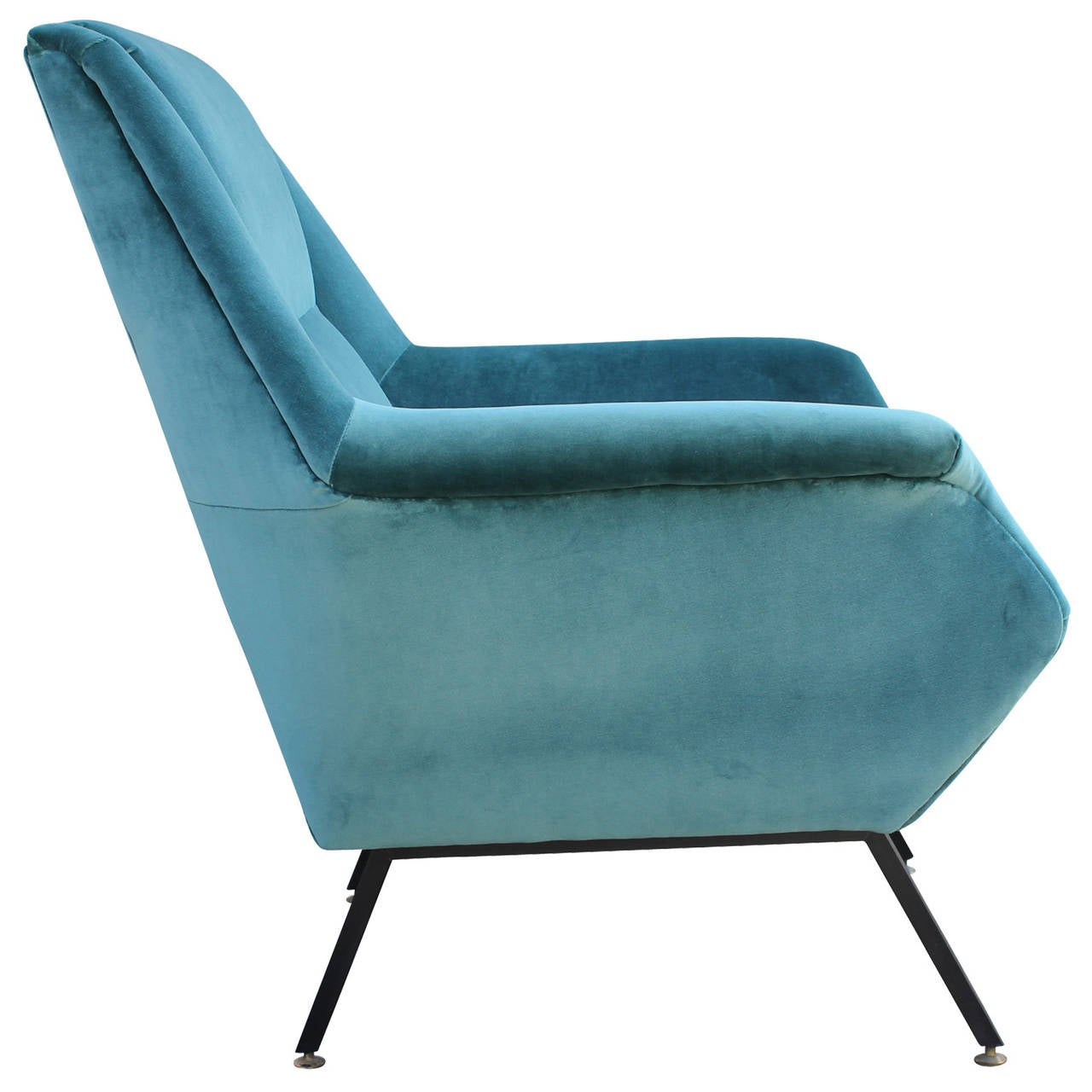 teal lounge chair baseball glove office pair of fabulous italian chairs in velvet at