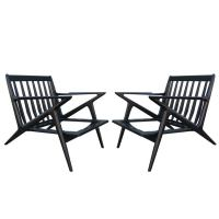 Pair of Poul Jensen for Selig Z Lounge Chairs at 1stdibs