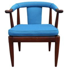 Turquoise Side Chair Outside Chaise Lounge Chairs Horseshoe At 1stdibs