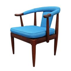 Turquoise Side Chair Black Wicker Dining Chairs Horseshoe At 1stdibs