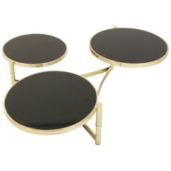Zac Swivel Chair Hanging With Stand Canada Milo Baughman Brass And Tinted Glass Table At 1stdibs