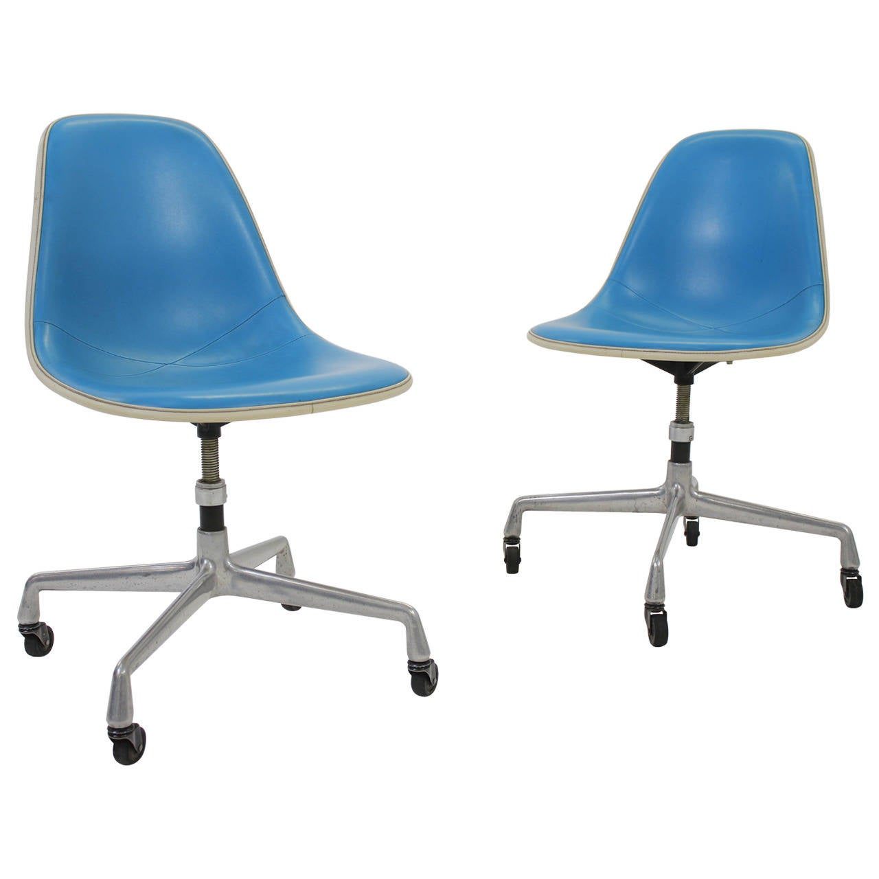 Rolling Desk Chairs Rare Herman Miller Adjustable Rolling Desk Chairs 1960s
