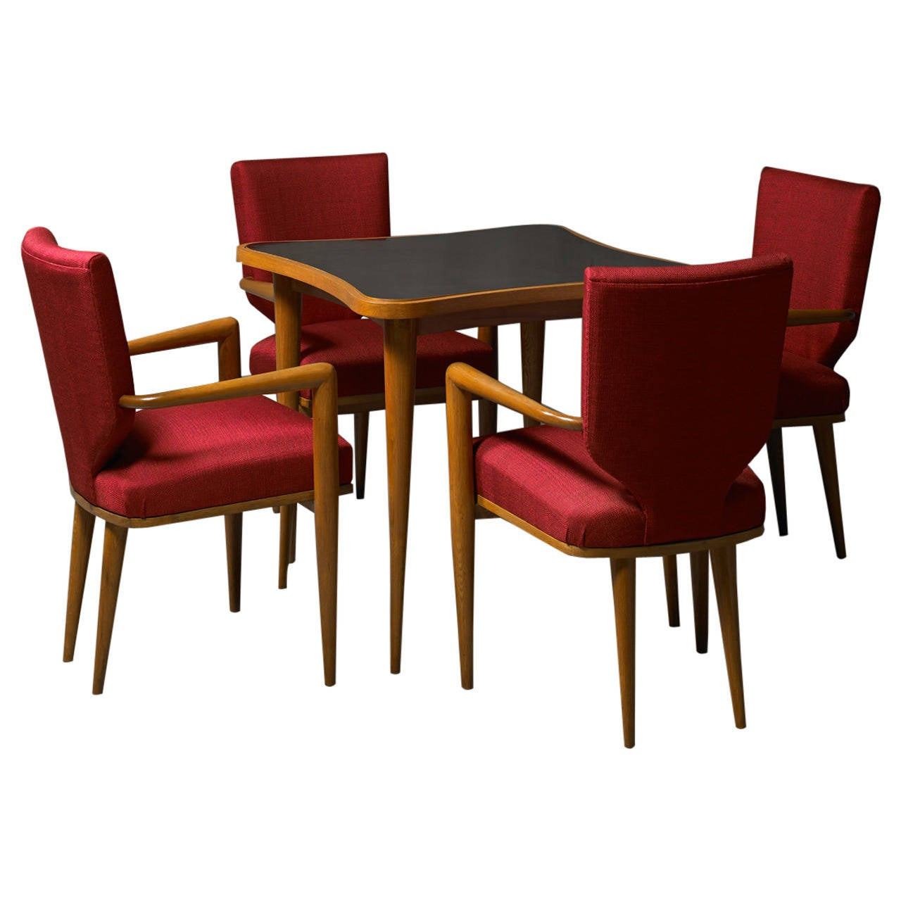 tables and chairs chair seat covers walmart set of bridge table four by jean royere at 1stdibs
