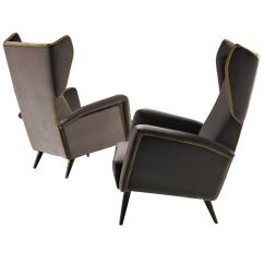 Leather Bergere Chair And Ottoman Comfortable Chairs For Bedroom Armchairs By Gio Ponti At 1stdibs