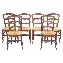 Cane Barrel Chair Wedding Decor Country French Rush Seat Dining Chairs At 1stdibs