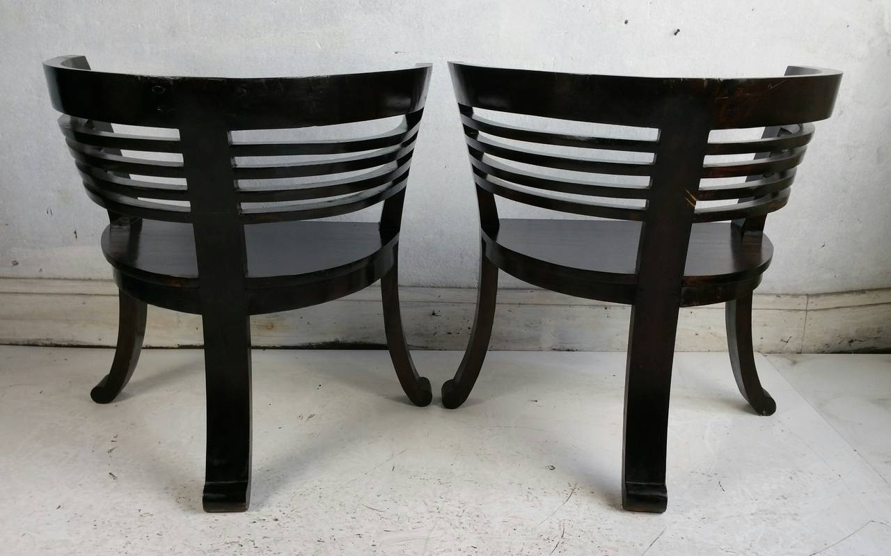 Modern Barrel Chair Pair Of Asian Modern Barrel Chairs For Sale At 1stdibs