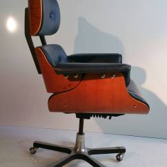 Swivel Office Chair Base Update Dining Room Chairs Modernist Eames Style Leather Desk At 1stdibs