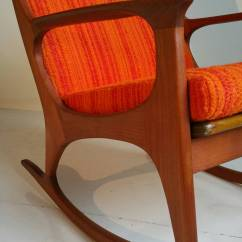 Danish Modern Rocking Chair Racing Simulator Midcentury Teak At 1stdibs Beautiful Curves And Elegant Craftsmanship Adorn This Vintage Rocker Made Of Solid With Exquisite