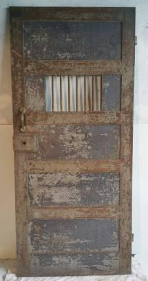 1920s Heavy Steel Prison Door 1stdibs