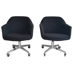Swivel Chair Mid Century Resin Lawn Chairs Pair Of Modern Tilt Desk By