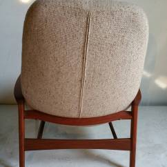 Mid Century Egg Chair Recycled Plastic Chairs Canada Teak Floating By R Huber And Co