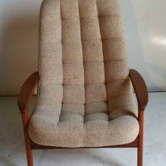 Mid Century Egg Chair Folding Japanese Teak Floating By R Huber And Co