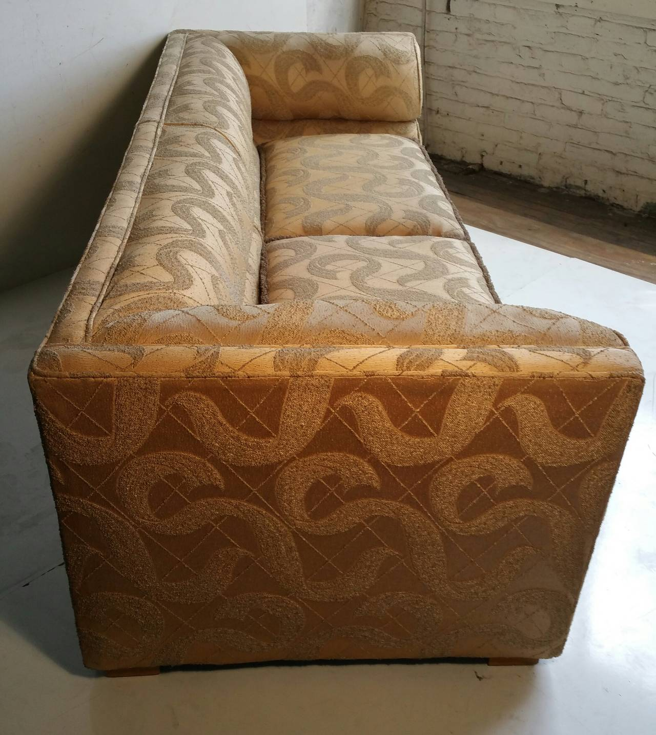 brocade sofa fabric bed john lewis gumtree outstanding art deco original sculpted for sale in good condition buffalo
