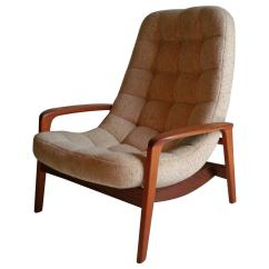 Mid Century Egg Chair Fold Away Bed Teak Floating By R Huber And Co