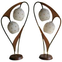 Pair of Majestic Lamp Co. Atomic Lamps, Mid-Century Modern ...