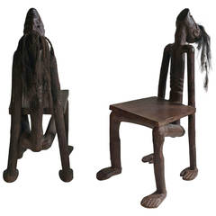 "african birthing chair hanging singapore vintage primitive ""birthing"" at 1stdibs"