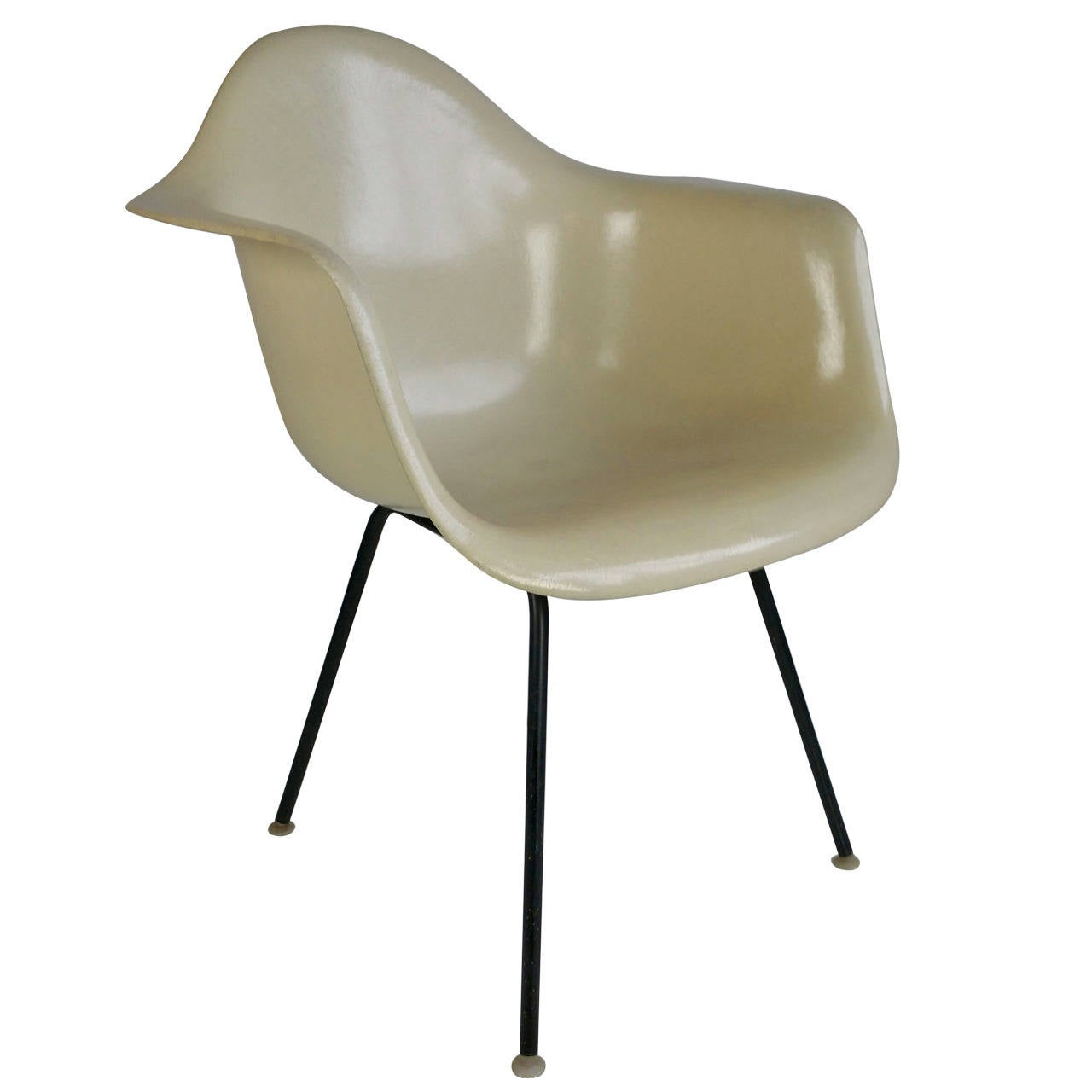 Herman Miller Eames Chairs Charles Eames Parchment Arm Shell Chair Herman Miller For