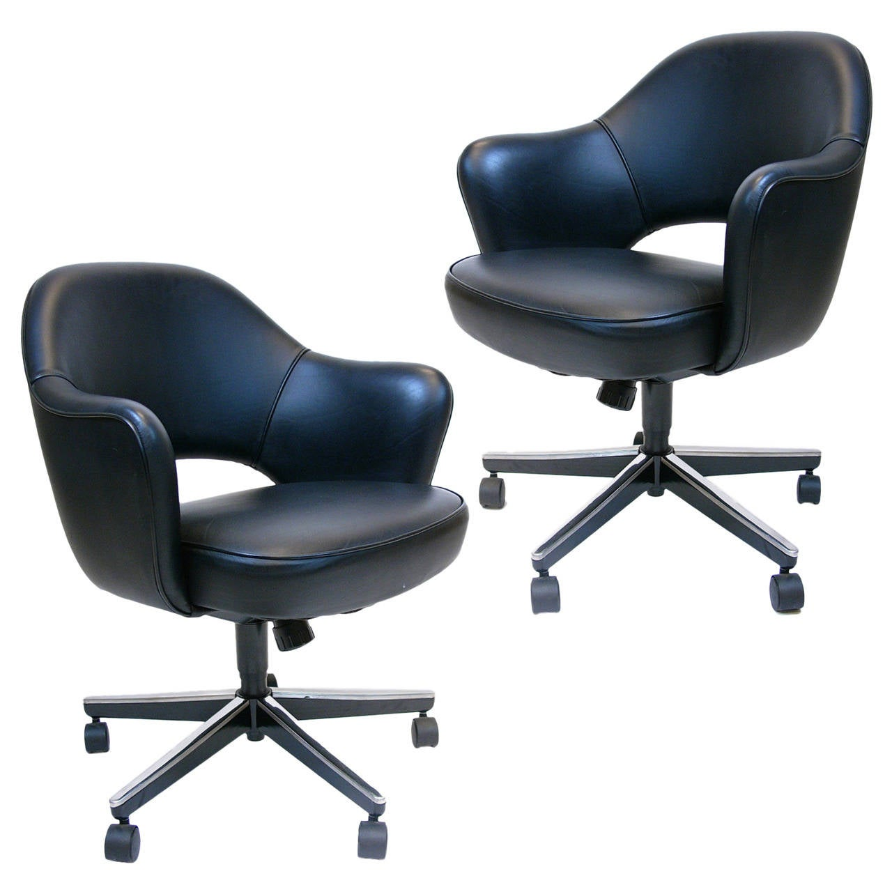 knoll saarinen chair mickey mouse high decorations pair of eero executive swivel armchairs for