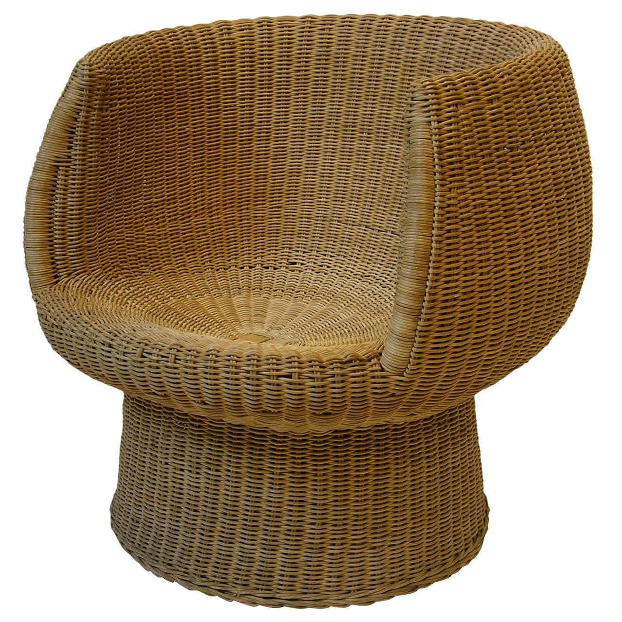 Pod Chairs Rattan Pod Chair In The Manner Of Eero Aarnio At 1stdibs