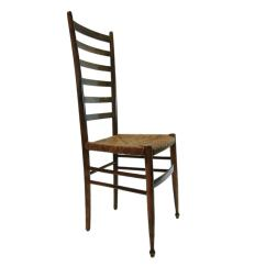 Gio Ponti Chair High Stool Set Of Four Italian Ladder Back Chairs In The Style