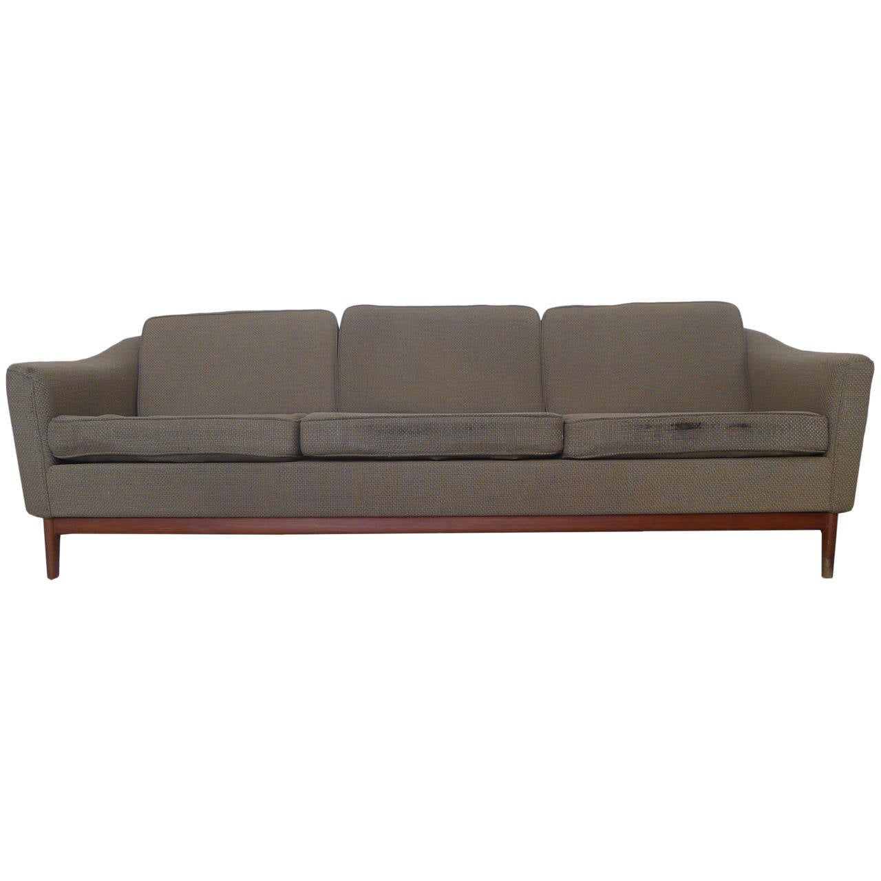dux sofa by folke ohlsson sectional light grey teak framed designed at 1stdibs