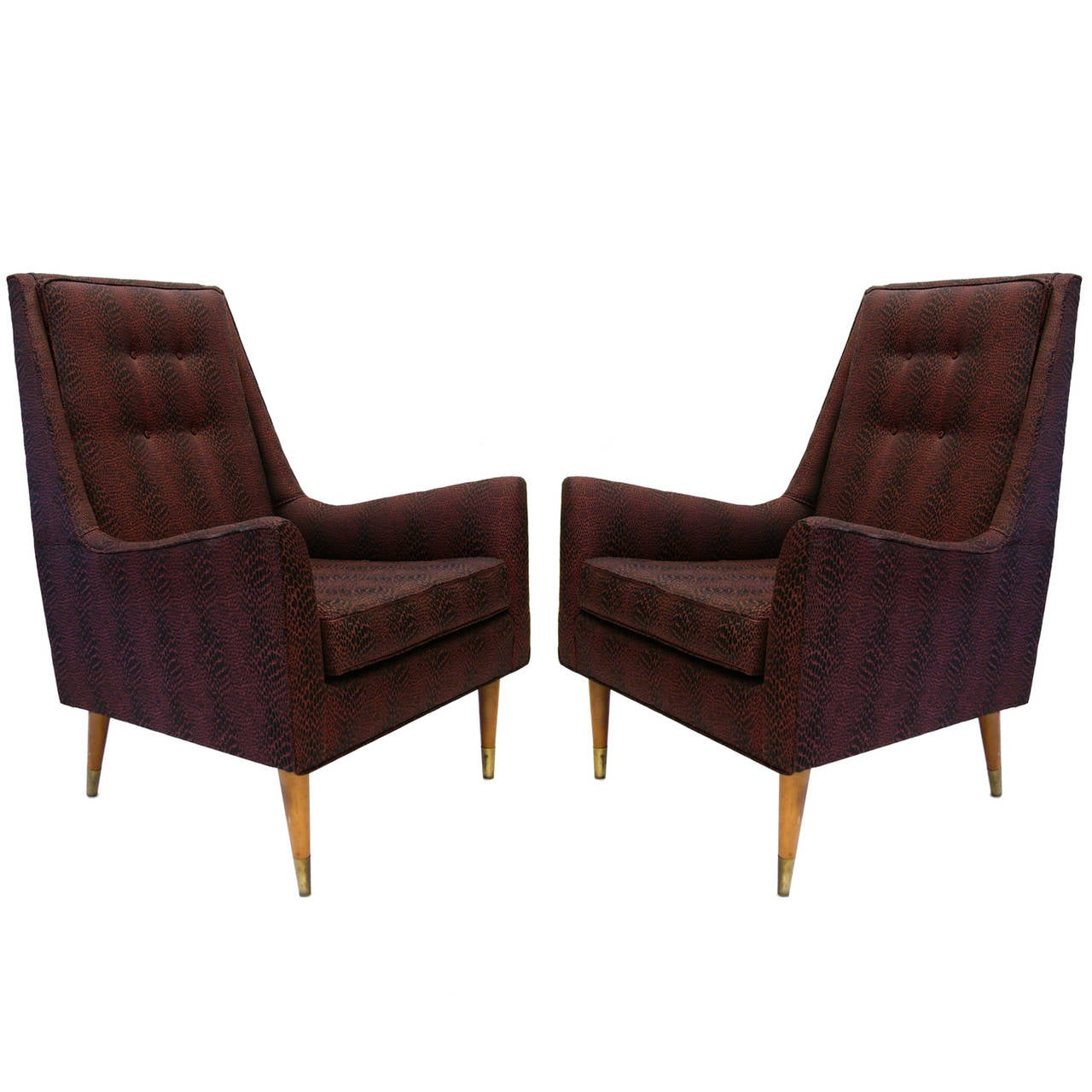 King Chairs Milo Baughman For James Inc 39king 39 Chair At 1stdibs
