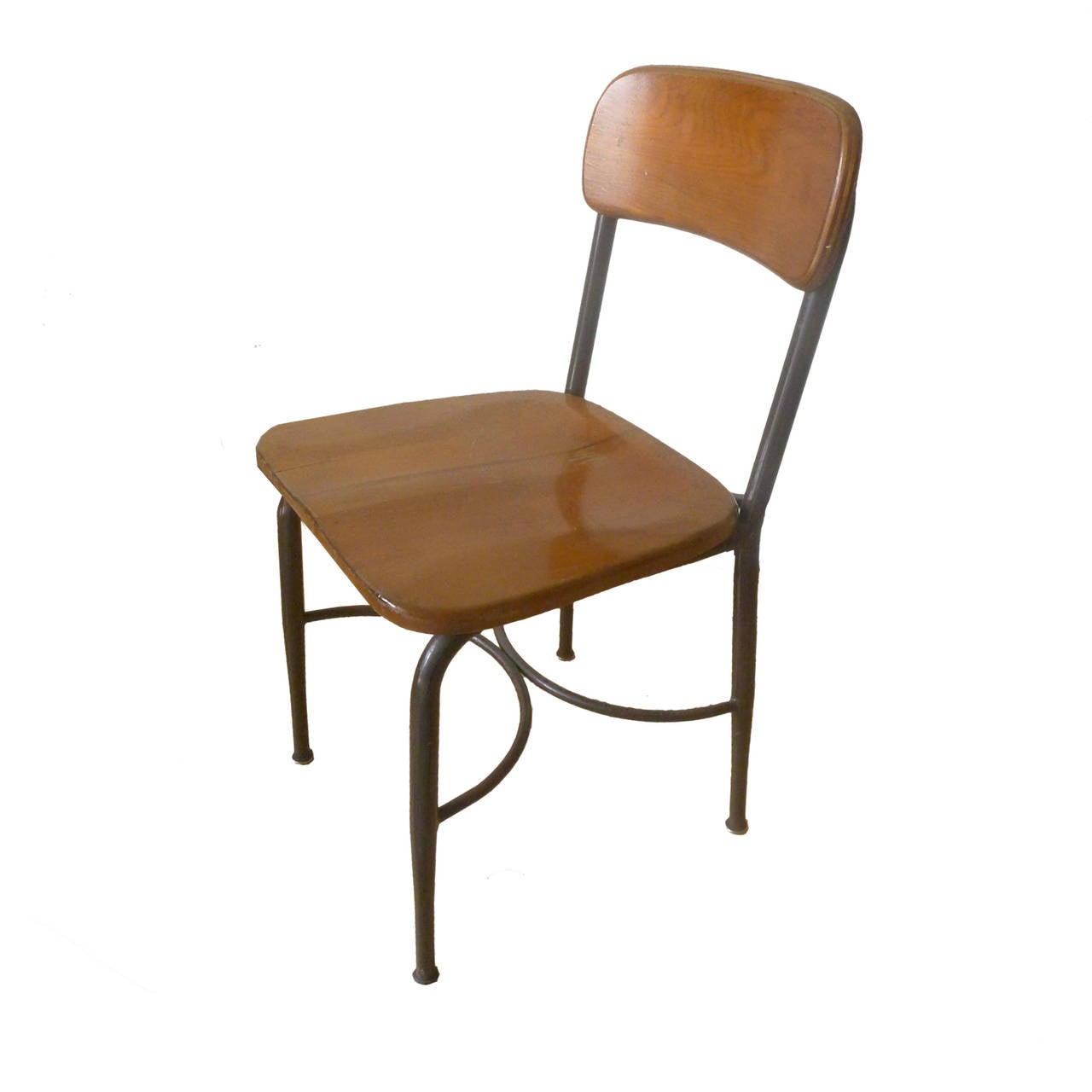 heywood wakefield dogbone chairs office chair assembly 8 adult sized vintage metal and maple