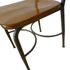 Heywood Wakefield Dogbone Chairs Long Lounge Chair 8 Adult Sized Vintage Metal And Maple