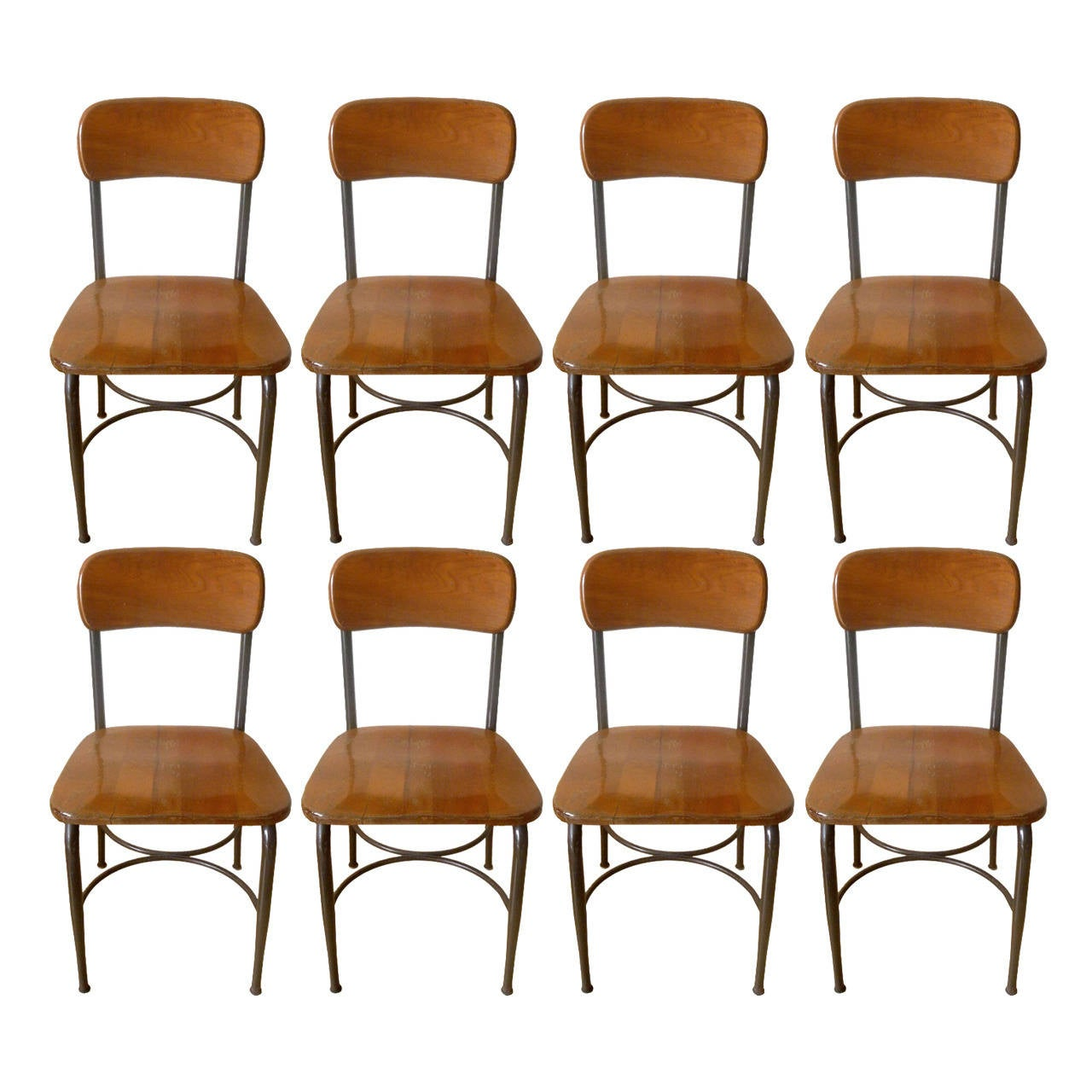 heywood wakefield chairs office chair rubber wheels 8 adult sized vintage metal and maple