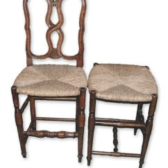 Rush Seat Chairs Keller Barber Chair Sam S Club Contemporary American Louis Xvi Style Side