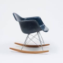 Navy Rocking Chair Armless Uk Eames Blue Shell Herman Miller 1962