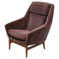 Danish High Back Lounge Chair at 1stdibs