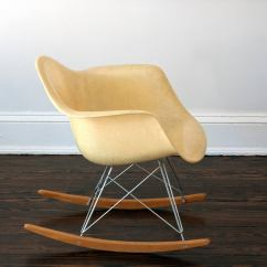 Metal Rocking Chair Runners Kitchen Table 6 Chairs Eames Herman Miller Zenith Rar Rope Edge At