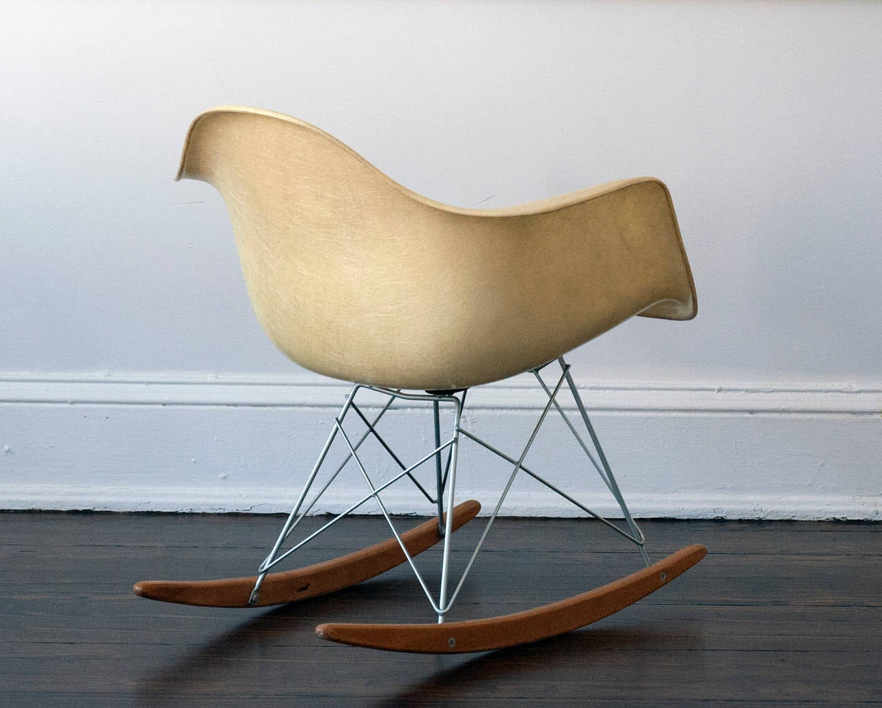metal rocking chair runners desk brown eames herman miller zenith rar rope edge at